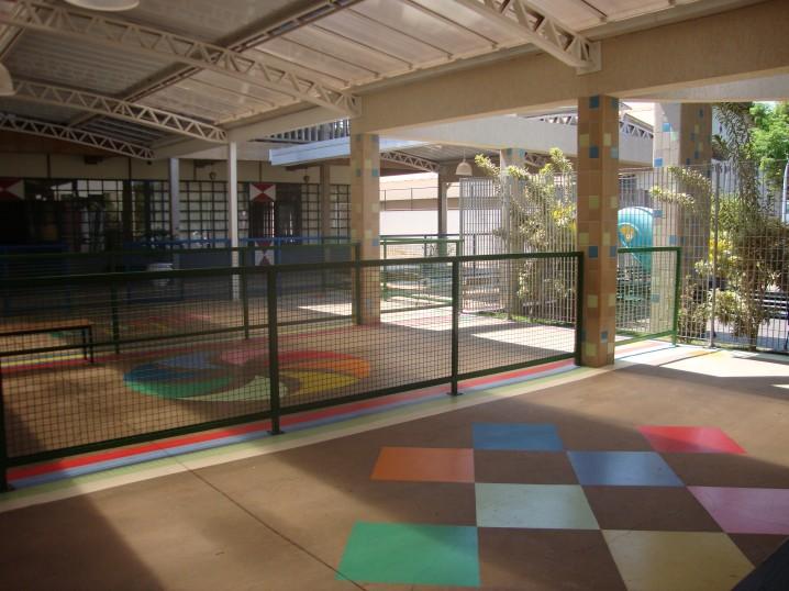 Área de espera da educação infantil